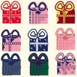 Grupo de presentes coloridos Imagem de Stock Royalty Free