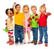 Grupo de primavera de los niños Fotografía de archivo