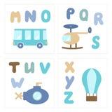 Grupo de printables do bebê ilustração royalty free