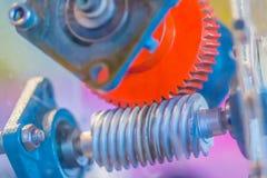 Grupo de produto da amostra de engrenagem de sem-fim Uma movimentação do sem-fim é um arrangem da engrenagem Foto de Stock Royalty Free