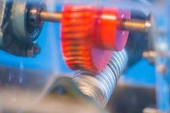 Grupo de produto da amostra de engrenagem de sem-fim Uma movimentação do sem-fim é um arrangem da engrenagem Imagem de Stock Royalty Free