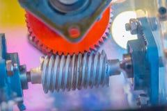 Grupo de produto da amostra de engrenagem de sem-fim Uma movimentação do sem-fim é um arrangem da engrenagem Imagens de Stock