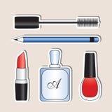 Grupo de produtos de beleza Imagens de Stock Royalty Free