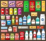 Grupo de produtos diferentes ilustração do vetor
