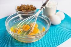 Grupo de produtos para cozinhar queques no guardanapo Foto de Stock