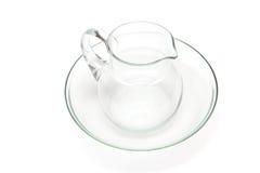 Grupo de produtos vidreiros da placa e do jarro Imagem de Stock Royalty Free