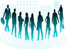 Grupo de profissionais do negócio ilustração do vetor
