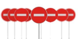 Grupo de proibir sinais Foto de Stock