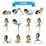 Grupo de projeto das posições da ioga Imagem de Stock