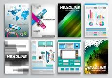 Grupo de projeto do inseto, Infographics Projetos do folheto Fotos de Stock