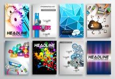 Grupo de projeto do inseto, Infographics Projetos do folheto Imagem de Stock Royalty Free