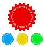 Grupo de projeto do laço do selo do selo do círculo de cor, illustr conservado em estoque do vetor ilustração royalty free