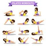 Grupo de projeto dos exercícios dos pilates Imagem de Stock Royalty Free