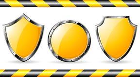 Grupo de protetores de aço amarelos Imagem de Stock Royalty Free