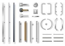 Grupo de puxadores da porta modernos ilustração stock