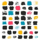 Grupo de 50 quadrados artísticos sujos Imagem de Stock