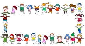 Grupo de quadro das crianças Fotografia de Stock
