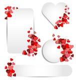 Grupo de quadro do coração para o dia de são valentim Imagem de Stock