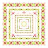 Grupo de quadro popular colorido da decoração Imagem de Stock Royalty Free