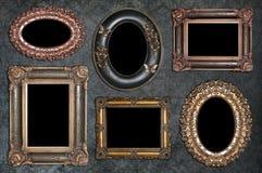 Grupo de quadros antigos fotografia de stock