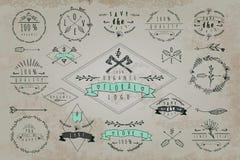 Grupo de quadros e de etiquetas do vintage Imagens de Stock Royalty Free