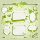 Grupo de quadros florais Fotos de Stock Royalty Free