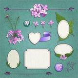 Grupo de quadros lilás ilustração royalty free