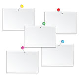 Grupo de quadros vazios isolados no fundo branco Imagens de Stock Royalty Free