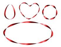 Grupo de quadros vermelhos da fita Imagens de Stock Royalty Free