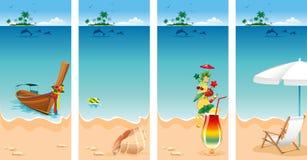 Grupo das férias ilustração royalty free
