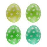 Grupo de quatro ovos da páscoa isolados no fundo branco para o projeto Foto de Stock Royalty Free
