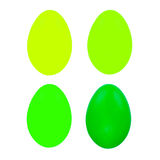 Grupo de quatro ovos da páscoa isolados no fundo branco para o projeto Foto de Stock