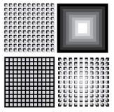 Grupo de quatro petterns geométricos Imagem de Stock Royalty Free