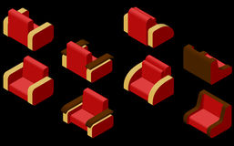 Grupo de quatro poltronas Imagem de Stock Royalty Free
