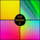 Grupo de quatro testes padrões geométricos Imagem de Stock Royalty Free