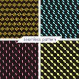Grupo de quatro testes padrões geométricos sem emenda do vetor Textur do vintage Imagem de Stock Royalty Free