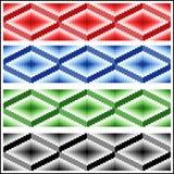 Grupo de quatro testes padrões rhombic sem emenda Fotos de Stock Royalty Free