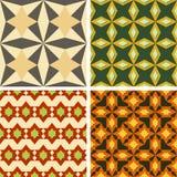 Grupo de quatro testes padrões sem emenda da cor Foto de Stock Royalty Free
