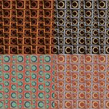 Grupo de quatro testes padrões sem emenda geométricos Imagem de Stock