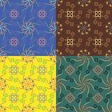 Grupo de quatro testes padrões sem emenda geométricos Imagens de Stock Royalty Free