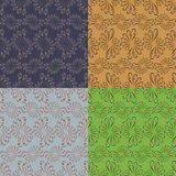 Grupo de quatro testes padrões sem emenda geométricos Foto de Stock Royalty Free