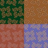 Grupo de quatro testes padrões sem emenda geométricos Fotografia de Stock Royalty Free