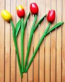 Grupo de quatro tulips falsificados Imagens de Stock