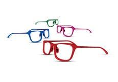 Grupo de quatro vidros coloridos ilustração stock