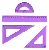 Grupo de réguas plásticas múltiplas Imagens de Stock Royalty Free