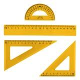 Grupo de réguas plásticas múltiplas Imagem de Stock Royalty Free