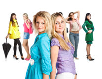 Grupo de raparigas Imagem de Stock