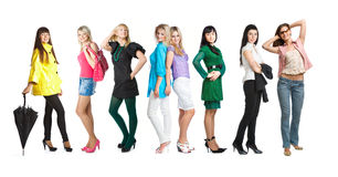 Grupo de raparigas Imagem de Stock Royalty Free