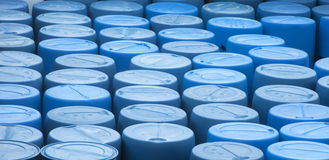 Grupo de recipientes azuis Imagem de Stock