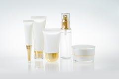 Grupo de recipientes cosméticos imagem de stock royalty free